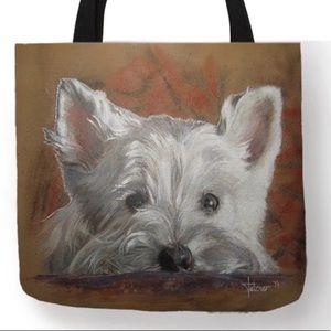 Tote Bag- New-  Westie Dog Tote Bag